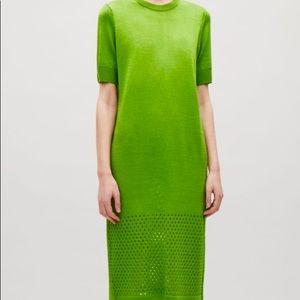 COS Green Long Knit Dress